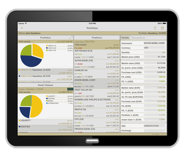 Wealth management trading systems